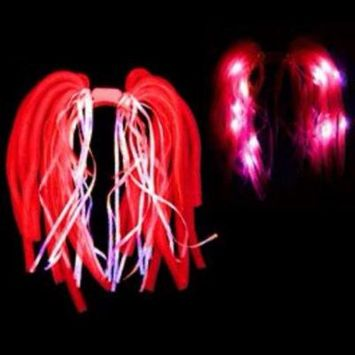 Red LED Noodle Headband Flashing Dreads