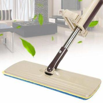 Hot Sale Lazy Hand wash-Free Flat Mop Hands-Free Washable Mop Washing Floor Single-Side, Beige