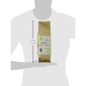 Tiny Footprint Coffee Organic Fair Trade Nicaragua Segovia Dark Roast, Whole Bean Coffee, 1 Pound [Whole Bean]