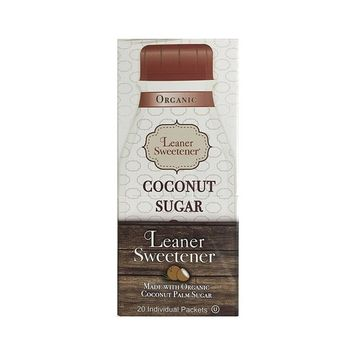 Leaner Sweetener: Organic Coconut Palm Sugar - A Healthy and Organic Sugar Alternative- 20 Count Travel Box