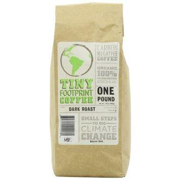 Tiny Footprint Coffee Organic Signature Blend Dark Roast, Ground Coffee, 1 Pound, (Pack of 2)