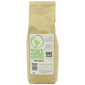 Tiny Footprint Coffee - The World's First Carbon Negative Coffee | Organic Signature Blend Light Roast, Whole Bean Coffee | 16 Ounce (Pack of 2)