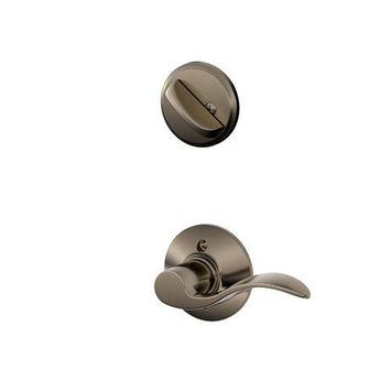 Schlage F59ACC620LH Antique Pewter Accent Accent Left Hand Single