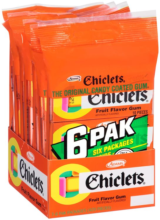 Chiclets® Fruit Flavor Gum 7x6-10 Piece Packs Tray
