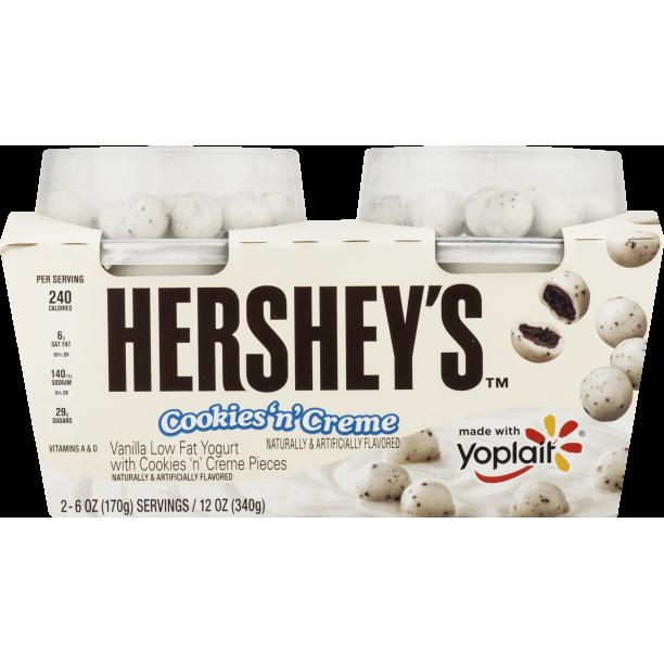 Yoplait® Hershey's Cookies 'n' Creme Low Fat Yogurt