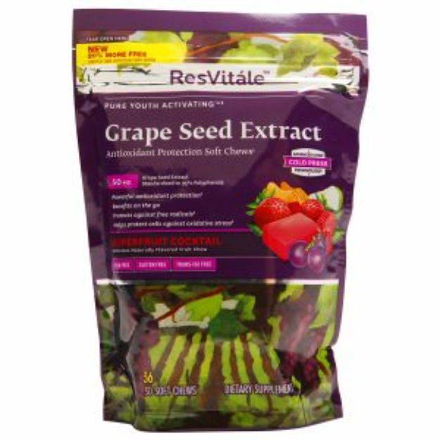 Resvitale ResVit le Grape Seed Extract - Superfruit Cocktail - 20% MORE FREE