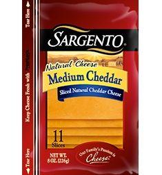 Sargento® Sliced Medium Cheddar Cheese