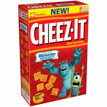 Cheez-It® Disney Pixar Monsters University Characters Baked Snack Crackers
