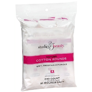 Studio 35 Cotton Rounds Textured 3Pk