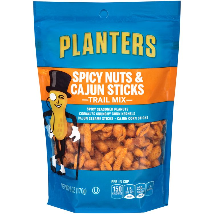 Planters Spicy Nuts And Cajun Stick Trail Mix