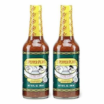 The Pepper Plant Chunky Garlic Hot Pepper Sauce 2-pack