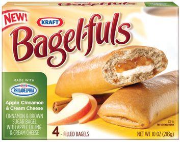Bagel-Fuls Apple Cinnamon & Cream Cheese 4 Ct Bagels