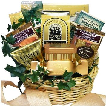 Sweet Sensations Cookie, Candy and Treats Gift Basket - SMALL, (Candy Option)