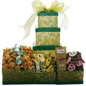 Sweet Success Cookie, Candy and Snacks Gift Tower [Multiple Delivery Options]