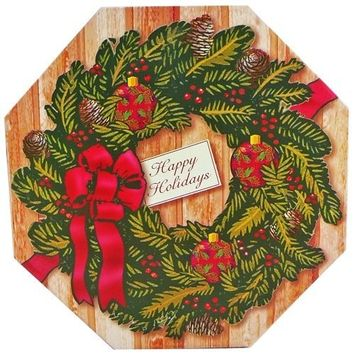 Holiday Wreath of Sweets and Christmas Treats Gift Box [Multiple Delivery Options]