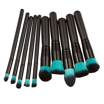 Makeup Brush Set, Ragdoll50 10pcs Makeup Cosmetic Brush Face Powder Eyeshadow Blush Brushes Set Tools, for All Consistencies (Powder, Creams and Liquids) ()