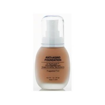Jolie Anti-Aging Foundation Liquid Makeup W/ Nutrilayer & Duo-Peptides (Raw Umber)