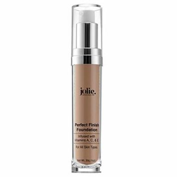 Jolie Perfect Finish Liquid Foundation Makeup SPF 15 Oil Free (MC2)
