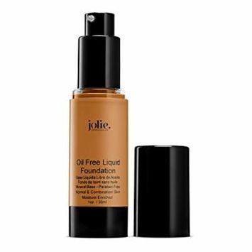Jolie Oil Free Liquid Foundation - Matte Finish (Golden Tan)