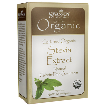 Swanson Stevia Extract - Certified Organic Calor 75 Pkts