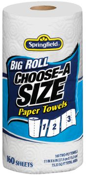 Springfield Springfield Big Roll Choose A Size Paper Towels Paper Towels 1 Ct Bag