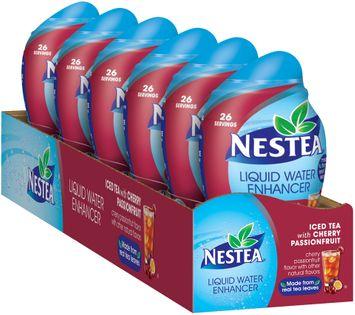 Nestea Iced Tea with Cherry Passionfruit Liquid Water Enhancer 6 ct Tray