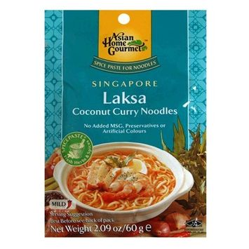 Asian Home Gourmet Singapore Laksa Coconut Curry Noodle Soup Mix, 2.09-Ounce Pouch (Pack of 12)