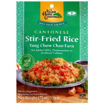 Asian Home Gourmet Cantonese Stir-Fried Rice Mix Seasonings, Yan Chow Chao Farn, 1.75-Ounce Pouch (Pack of 12)