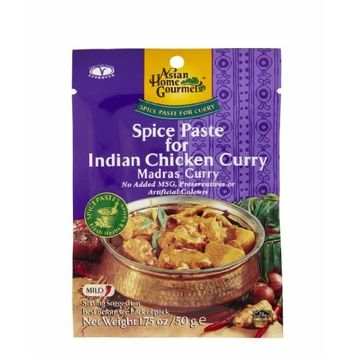 ASIAN HOME GOURMET Spice Paste for Indian Chicken Curry(Madras curry) 1.75 Ounce