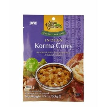 ASIAN HOME GOURMET Spice Paste for Indian Korma Curry 1.75 Ounce (Pack of 3)
