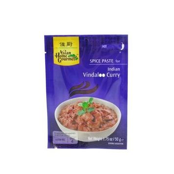 Asian Home Gourmet Spice Paste for: Indian Vindaloo Curry (5 X 1.75 Oz)