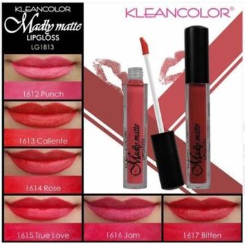 LWS LA Wholesale Store 6 PCs Kleancolor Madly MATTE Lip gloss lipgloss Gloss Bold Red Pink Berry 1813