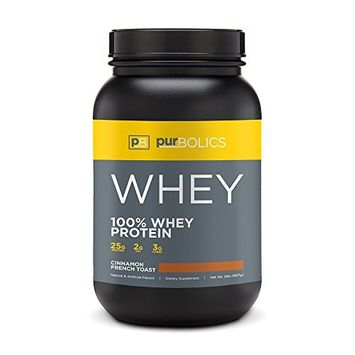 Purbolics Protein | 100% Whey Protein | Build Lean Muscle & Improve Recovery | 25g Protein | 28 Servings