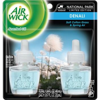 Air Wick Denali Soft Cotton Grass & Spring Air Scented Oil Refills