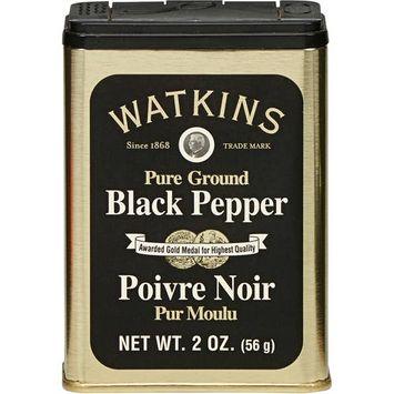 Watkins Pure Ground Black Pepper, 2 oz