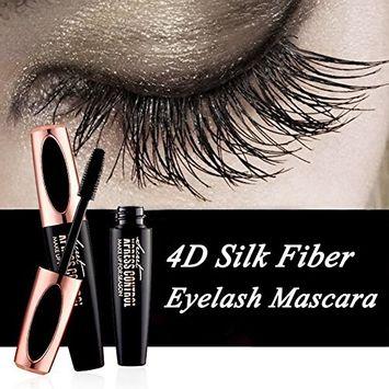 4D Silk Fiber Eyeash Mascara Waterproof Carbon Black For All Eye Colors & Skin Tones Cosmetics Extensions Volume Curling Long Lasting Mascara Enhancer Makeup Kit(4D mascara)