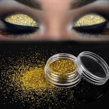 Women's Glitter Loose Eyeshadow, Iuhan Sparkly Makeup Glitter Loose Powder EyeShadow Gold Eye Shadow Pigment (G