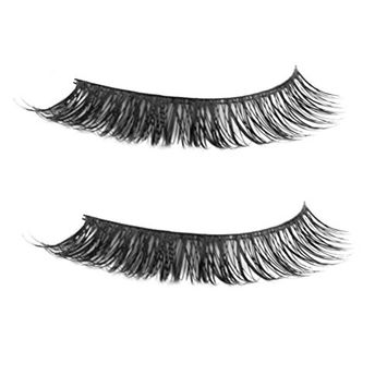 ROSENICE Black Long Nature Voluminous False Fake Eyelashes Makeup Eye Lashes - 1 Pair