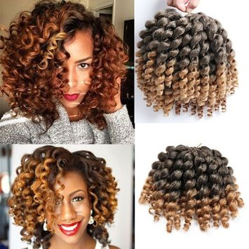 3 Packs Wand Curl Crochet Hair Synthetic Crochet Braids 8 Inch Jamaican Bounce Twist African Braiding Hair For Black Women