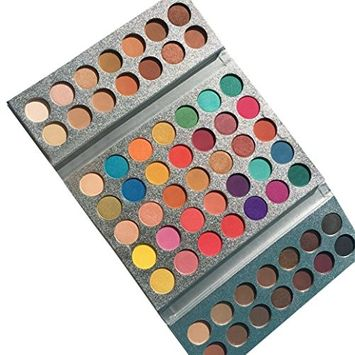 63 Color Eyeshadow Waterproof with Brush Shimmer Glitter Eye Shadow Highlight Palette Matte Eyeshadow 1 Pc Eyeshadow