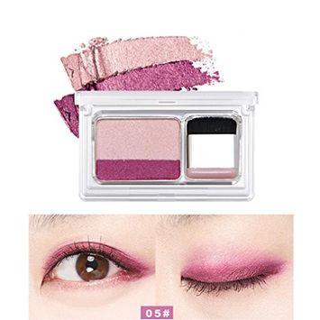 Women's Shimmer Stamp Eyeshadow Palette, Iuhan Shimmer Two-color Stamp Eyeshadow Palette Makeup Powder Flexibility Lasting