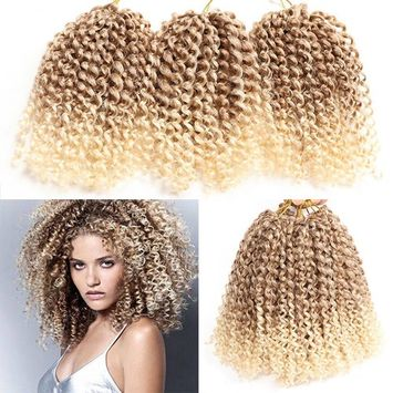 6 Packs Marlybob crochet hair afro kinky curly hair crochet braids curly wave crochet braiding hair synthetic hair extension