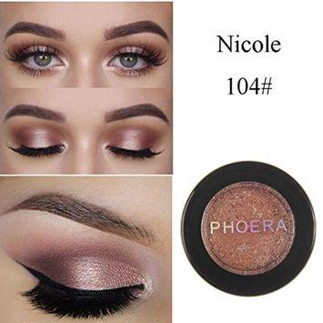 Women's Eyeshadow Palette, Iuhan Glitter Shimmering Colors Eyeshadow Metallic Eye Cosmetic