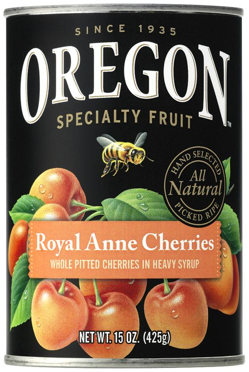 Oregon Fruit Products® Pitted Light Sweet Royal Anne Cherries in Heavy Syrup