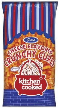 Kitchen Cooked Fried Cheese Flavored Crunchy Curls