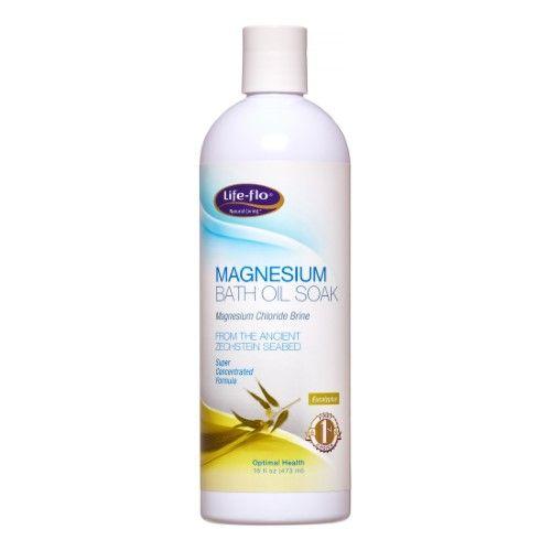 Magnesium Bath Oil Soak Eucalyptus Life Flo Health Products 16 oz Liquid