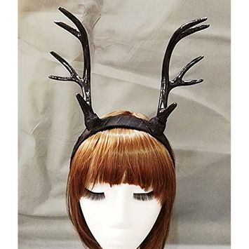 Steampunk Deer Antlers Headband Gothic Horn Headpiece Handmade Vintage Hair Accessories Retro
