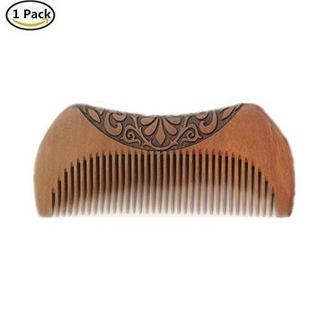 Gofypel Wood Comb Mahogany Comb Pocket Hair Comb Handmade Massage Wooden Brush Comb Natural Anti-static Beard Comb