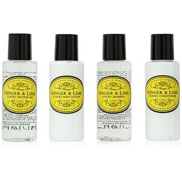 Naturally European Ginger And Lime Luxury Body Care Gift Collection 4 x 50ml
