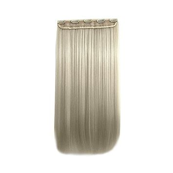 Mmmr 5 Clips in Hair Extension Long Straight Wig Hairpieces for Women Beige